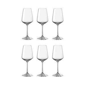 Bohemia Crystal Glass Sandra Wine 25cl, 6er-Set