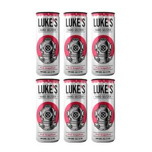 Luke's Hard Seltzer Grapefruit 33cl, 6er-Pack