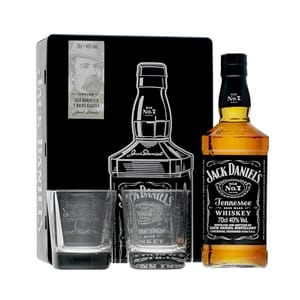 Jack Daniel's Old No.7 Whiskey 70cl Set mit 2 Gläser (Version 2019)