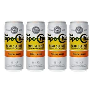 Topo Chico Tropical Mango Hard Seltzer 33cl, 4er-Pack