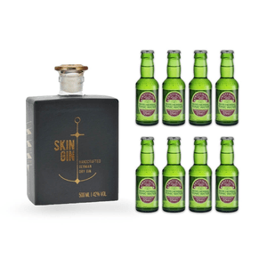 Skin Gin Anthrazit 50cl mit 8x Fentiman's Herbal Tonic Water