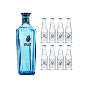 Star of Bombay London Dry Gin 70cl avec 8x Gents Tonic Water