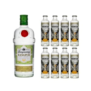 Tanqueray Rangpur 70cl mit 8x 1724 Tonic Water