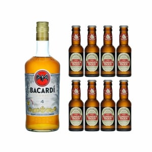 Bacardi Añejo Cuatro 70cl avec 8x Fentiman's Ginger Beer
