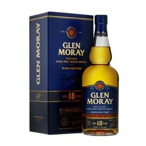 Glen Moray 18 Years Single Malt Whisky 70cl