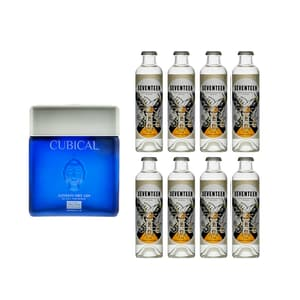 Cubical Ultra Premium London Dry Gin 70cl mit 8x 1724 Tonic Water