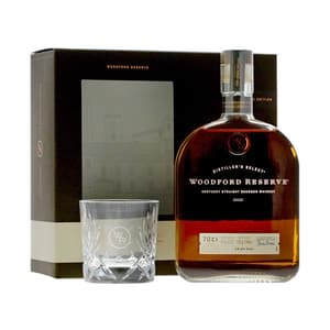 Woodford Reserve Distiller's Select Whiskey 70cl Set avec Verre
