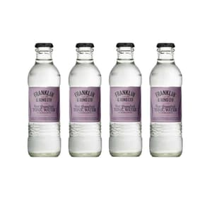 Franklin&Sons Pink Grapefruit & Bergamot Tonic Water 20cl, Pack de 4