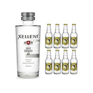 Xellent Swiss Edelweiss Gin 70cl avec 8x Thomas Henry Tonic Water
