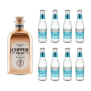 Copperhead The Alchemist's Gin 50cl avec 8x Fever Tree Mediterranean Tonic Water