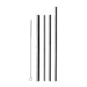 Strohhalme aus Edelstahl mit Bürste, 4er-Pack (unterschiedliche Grösse)