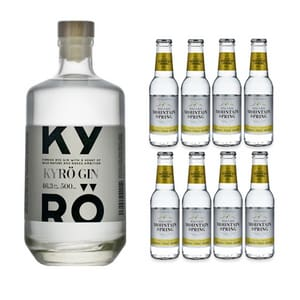 Kyrö Gin 50cl avec 8x Swiss Mountain Spring Classic Tonic Water
