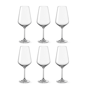 Bohemia Crystal Glass Sandra Bordeaux 55cl, 6er-Set
