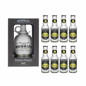 Mombasa Club Colonel's Reserve Gin 70cl avec 8x Fentimans Tonic Water