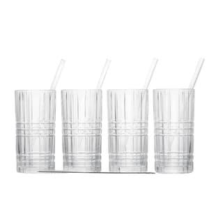 Nachtmann Longdrink Set vierteilig mit 4 Trinkhalme und Reinigungsbürste