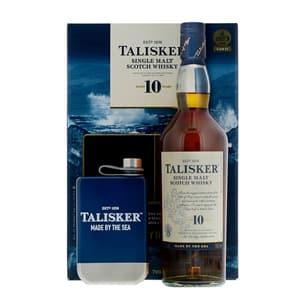 Talisker 10 Years Single Malt Whisky 70cl Set mit Flachmann