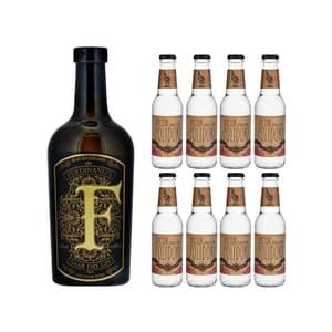 Ferdinand's Goldcap Saar Dry Gin 50cl avec 8x Doctor Polidori's Dry Tonic Water