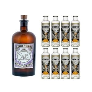 Monkey 47 Schwarzwald Dry Gin 50cl avec 8x 1724 Tonic Water