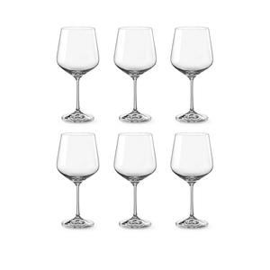 Bohemia Crystal Glass Sandra Burgundy 57cl, 6er-Set