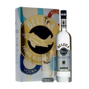 Beluga Noble Vodka 70cl Set avec Verre Highball