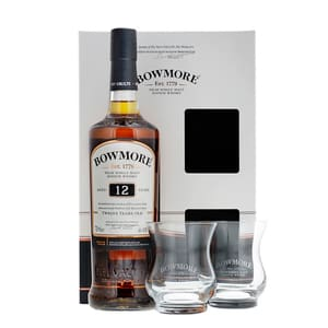 Bowmore 12 Years Whisky 70cl Set mit 2 Gläser
