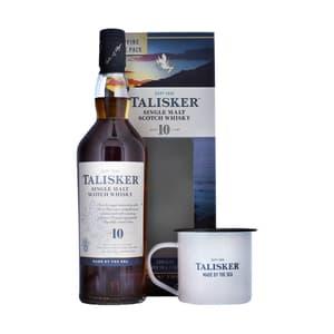 Talisker 10 Jahre Single Malt Whisky 70cl Set mit Mug