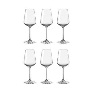 Bohemia Crystal Glass Sandra Wine 25cl, 6er-Set