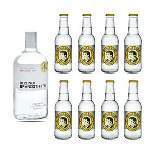 Berliner Brandstifter Dry Gin 70cl mit 8x Thomas Henry Tonic Water