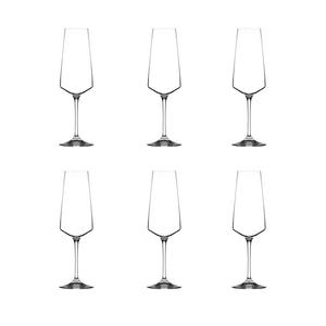 RCR Luxion Professional Aria Flûte à Champagne, Pack de 6