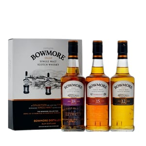 Bowmore Classic Collection (12, 15 & 18 Years Old Single Malt Whisky) 3 x 20cl