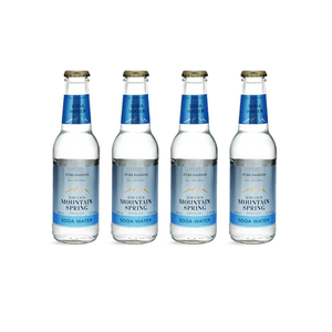 Swiss Mountain Spring Soda Water 20cl 4er Set