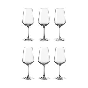 Bohemia Crystal Glass Sandra Wine 45cl, 6er-Set
