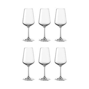 Bohemia Crystal Glass Sandra Wine 45cl, 6er-Set