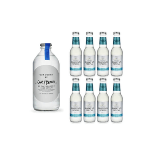 Our Vodka / Berlin 35cl mit 8x Swiss Mountain Spring Bitter Lemon