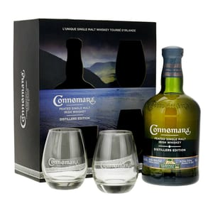 Connemara Distillers Edition Single Malt Whisky 70cl Set mit 2 Gläser