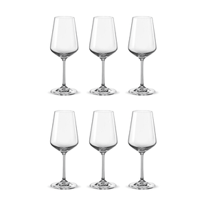 Bohemia Crystal Glass Sandra Wine 35cl, 6er-Set