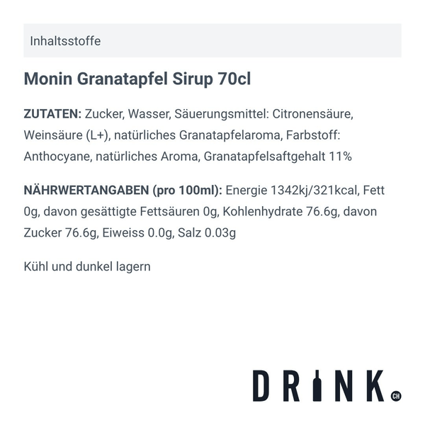 Monin Granatapfel Sirup 70cl