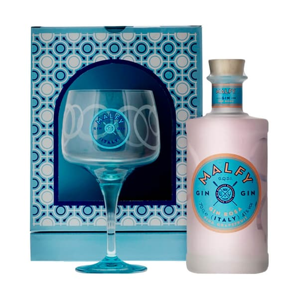 Malfy Gin Rosa 70cl Set mit Glas