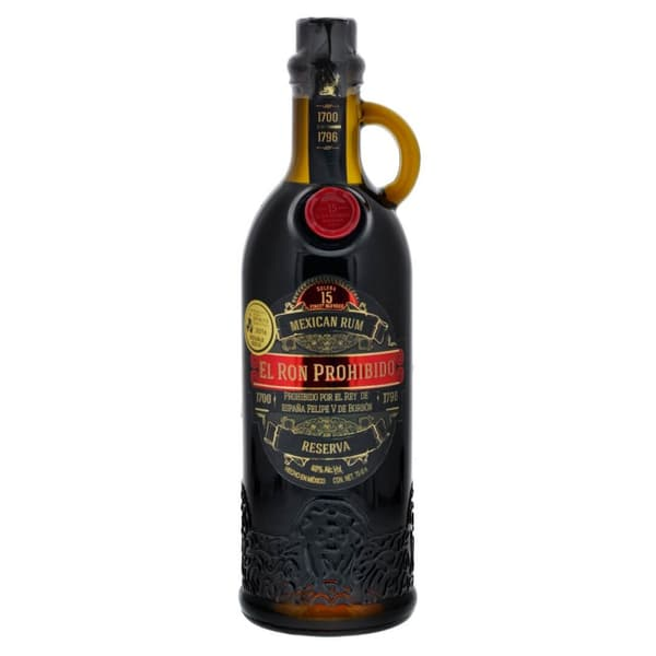 El Ron Prohibido 15 Years Old Solera Finest Blended Mexican Rum Reserva 70cl