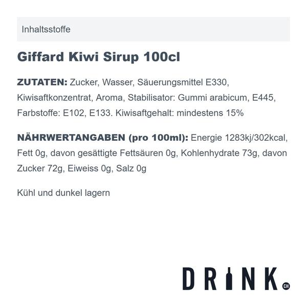 Giffard Kiwi Sirup 100cl