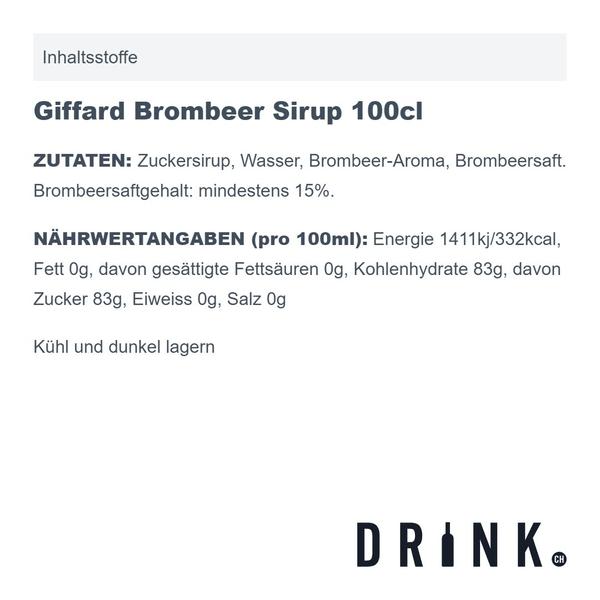 Giffard Brombeer Sirup 100cl