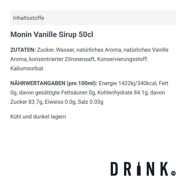 Monin Vanille Sirup 70cl