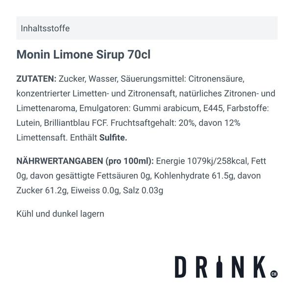 Monin Limone Sirup 70cl
