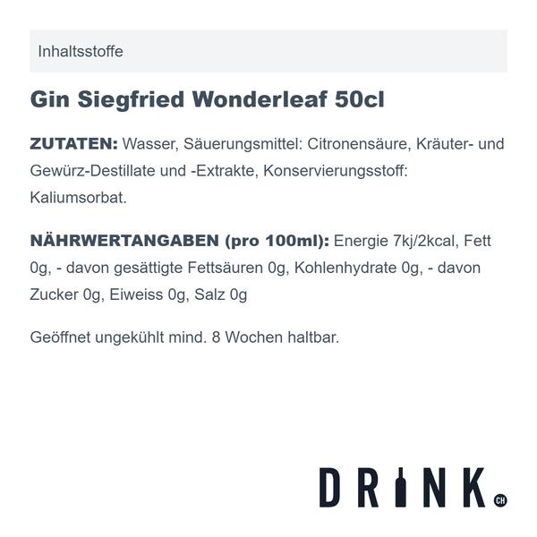 Gin Siegfried Wonderleaf 50cl