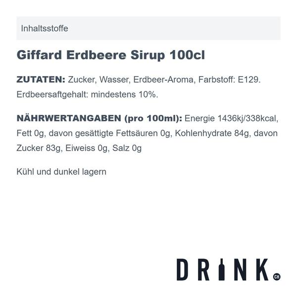 Giffard Erdbeere Sirup 100cl