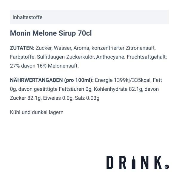 Monin Melone Sirup 70cl