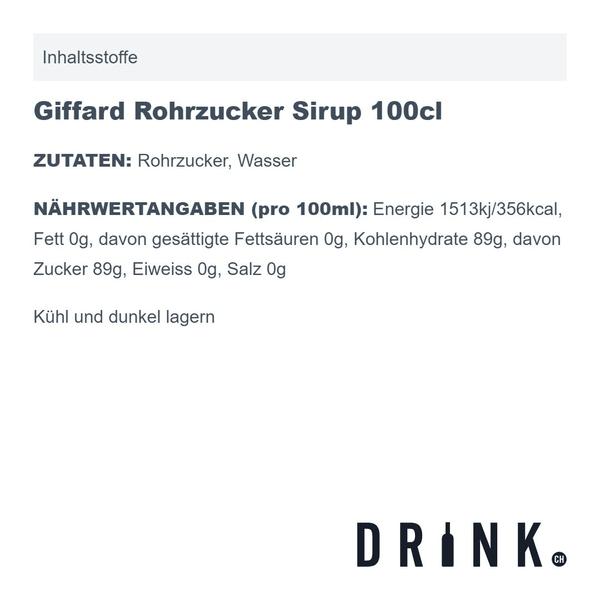 Giffard Rohrzucker Sirup 100cl