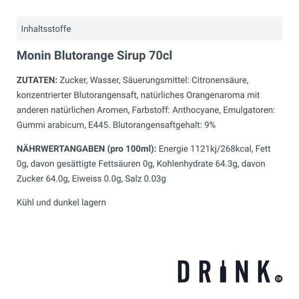 Monin Blutorange Sirup 70cl