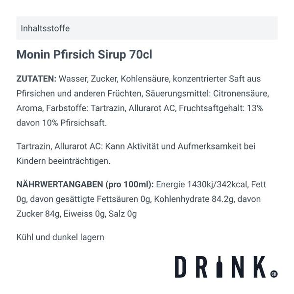 Monin Pfirsich Sirup 70cl
