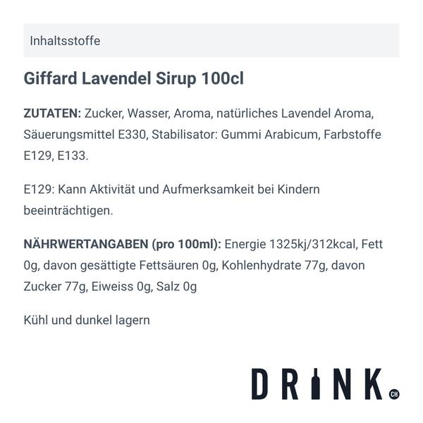 Giffard Lavendel Sirup 100cl